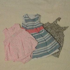 3 piece Bundle Baby Girl Summer Carter's 6 month